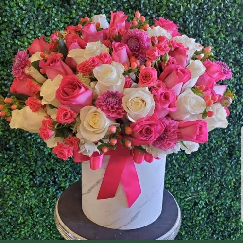 Pink & White Box