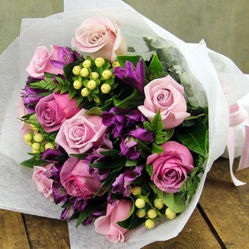 Pretty Purple Wrap Bouquet