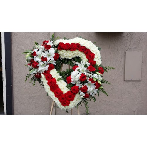 White and Red Wreath