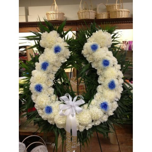 White and Blue Colt Wreath
