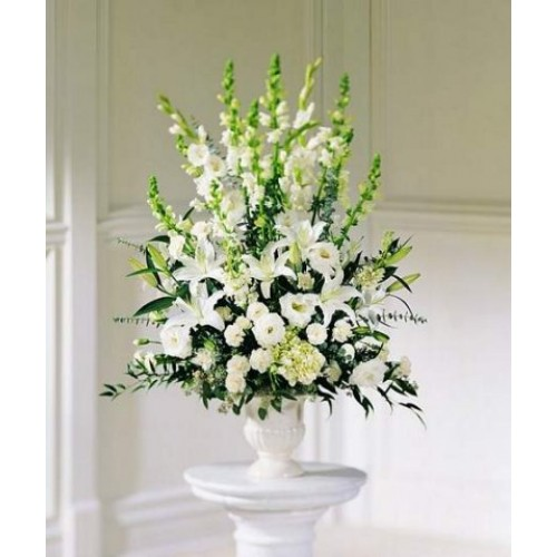 White Arrangement Vase