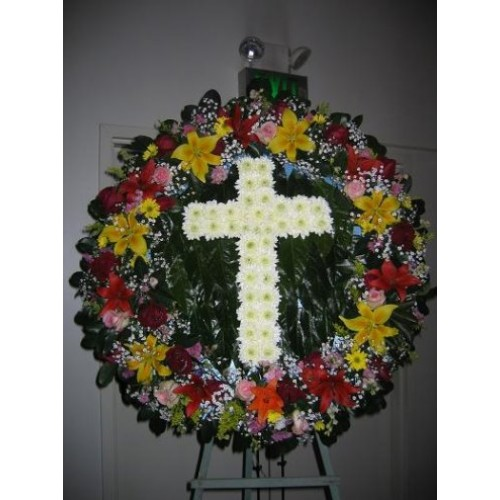 Wreath with Cross