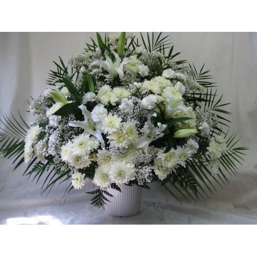 White Orchid Vase Arrangement