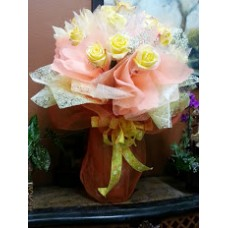Yellow Glitter Rose