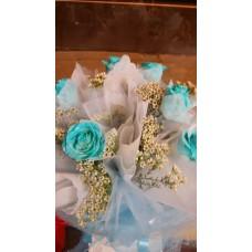 Blue Glitter Roses