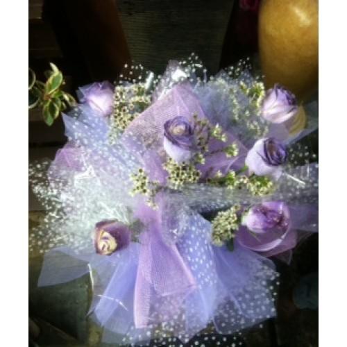 purple glitter roses