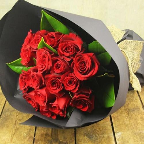 Red Rumba Fancy Wrap Bouquet
